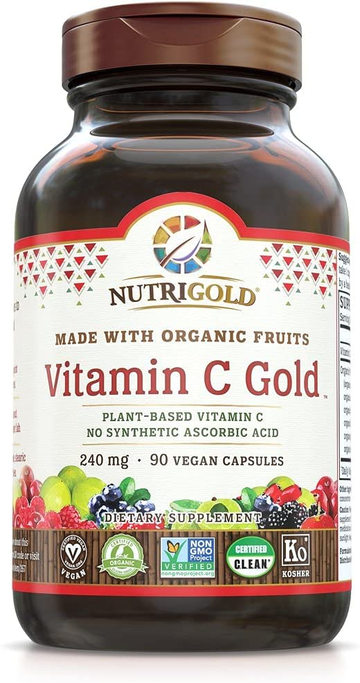 Different forms of vitamin C include vitamin c made from berries and fruits.
