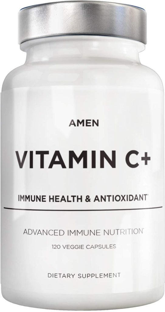 Amen vitamin C is one of the best vegan vitamin c supplements without sugar.
