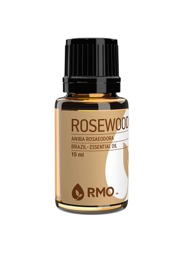 These essential oils smell like baby powder when mixed with rosewood oil.