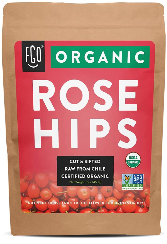 Different forms of vitamin C include natural sources like rosehips.