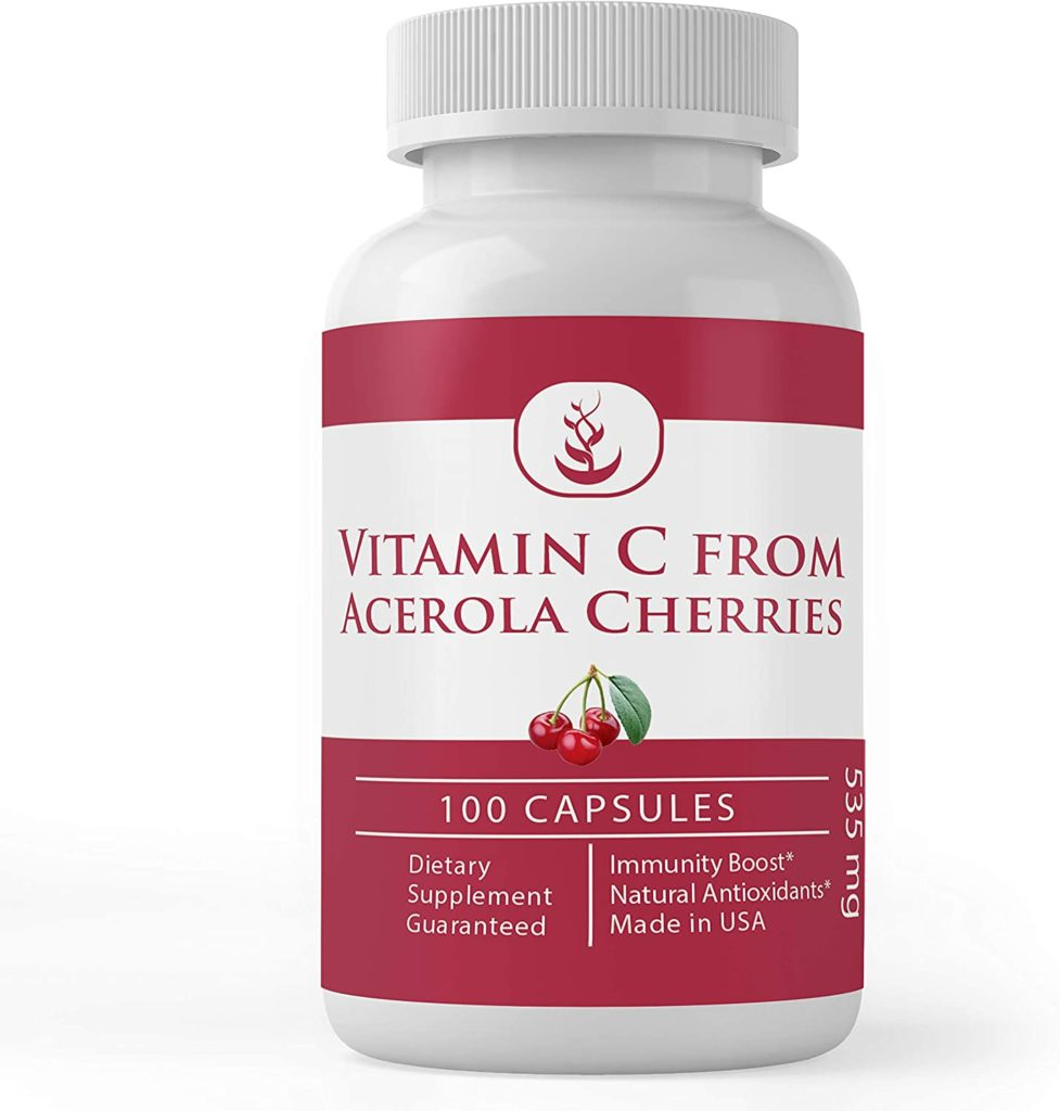 Different forms of vitamin C includes wholefood forms like acerola berries.