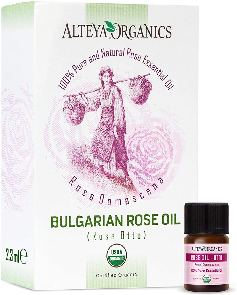 Rose otto essential oil is perfect for dry skin.