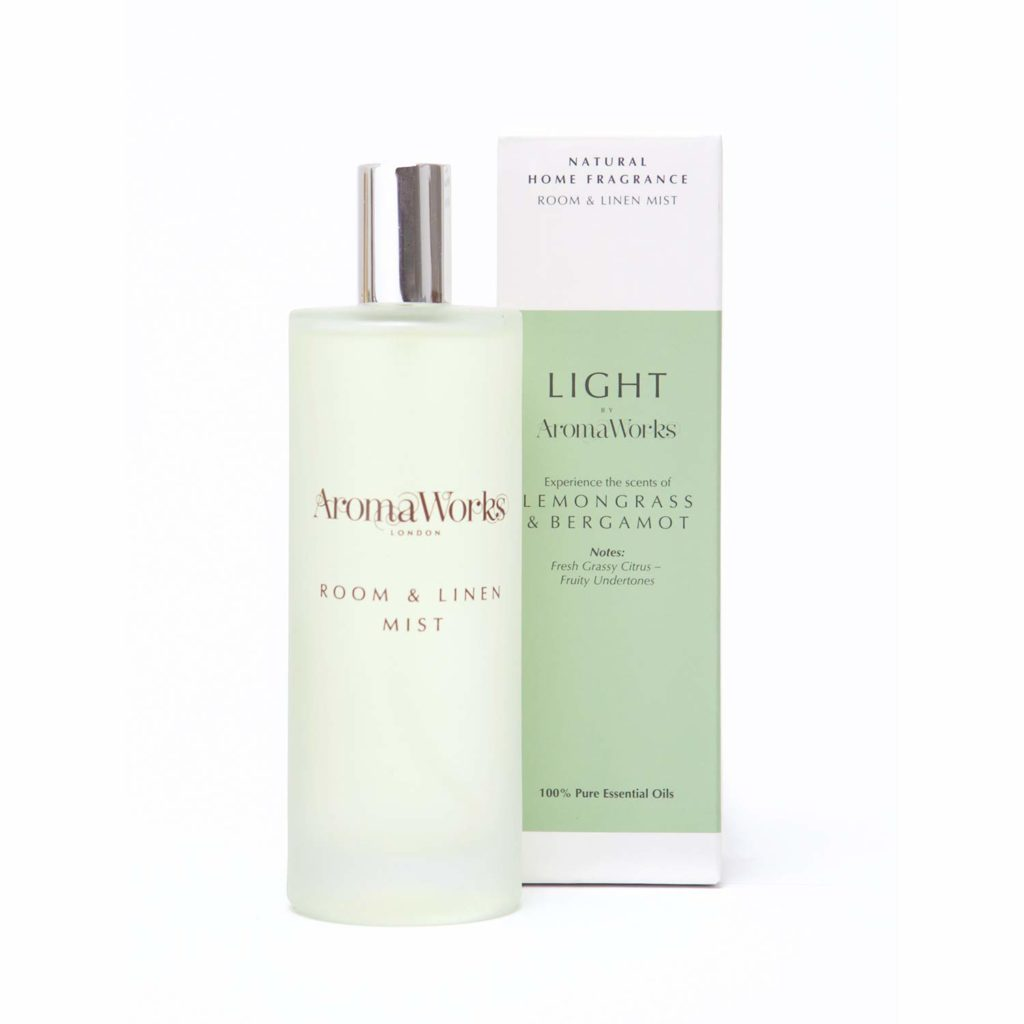 Linen mist that smells like clean laundry.