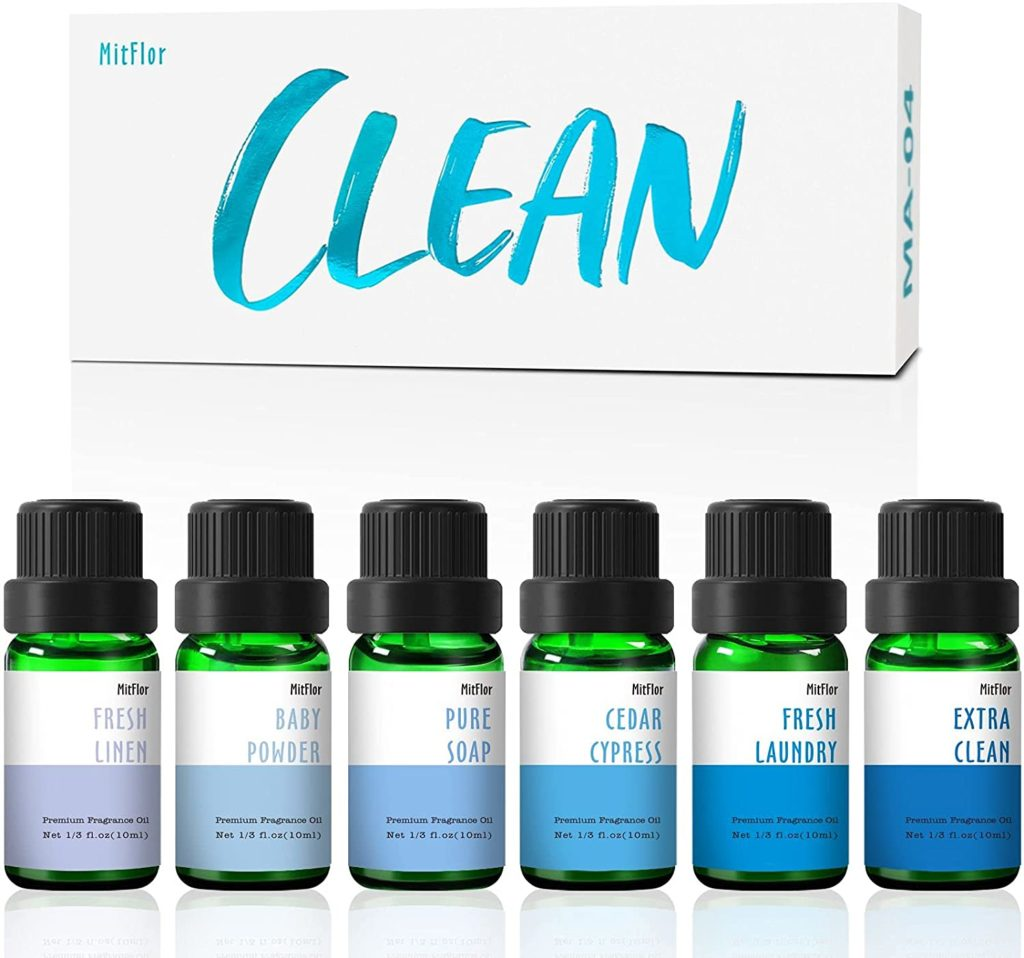 Essential oil gift set that smells like clean laundry.